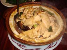 Chicken with Chinese Mushroom Hot Pot