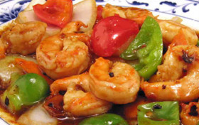 Jumbo Shrimp with Black Bean Sauce