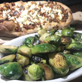 Pancetta Apple Roasted Brussels Sprouts