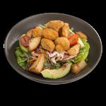 Crumbed Mushroom & Avocado Salad (4694kJ)